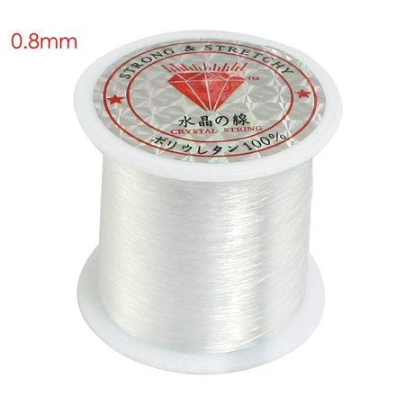 Wholesale Crystal Jewelry (Transparent fishing line nylon hand-woven crystal beaded diy material jewelry accessories wholesale Crystal fishing line 0.8mm)