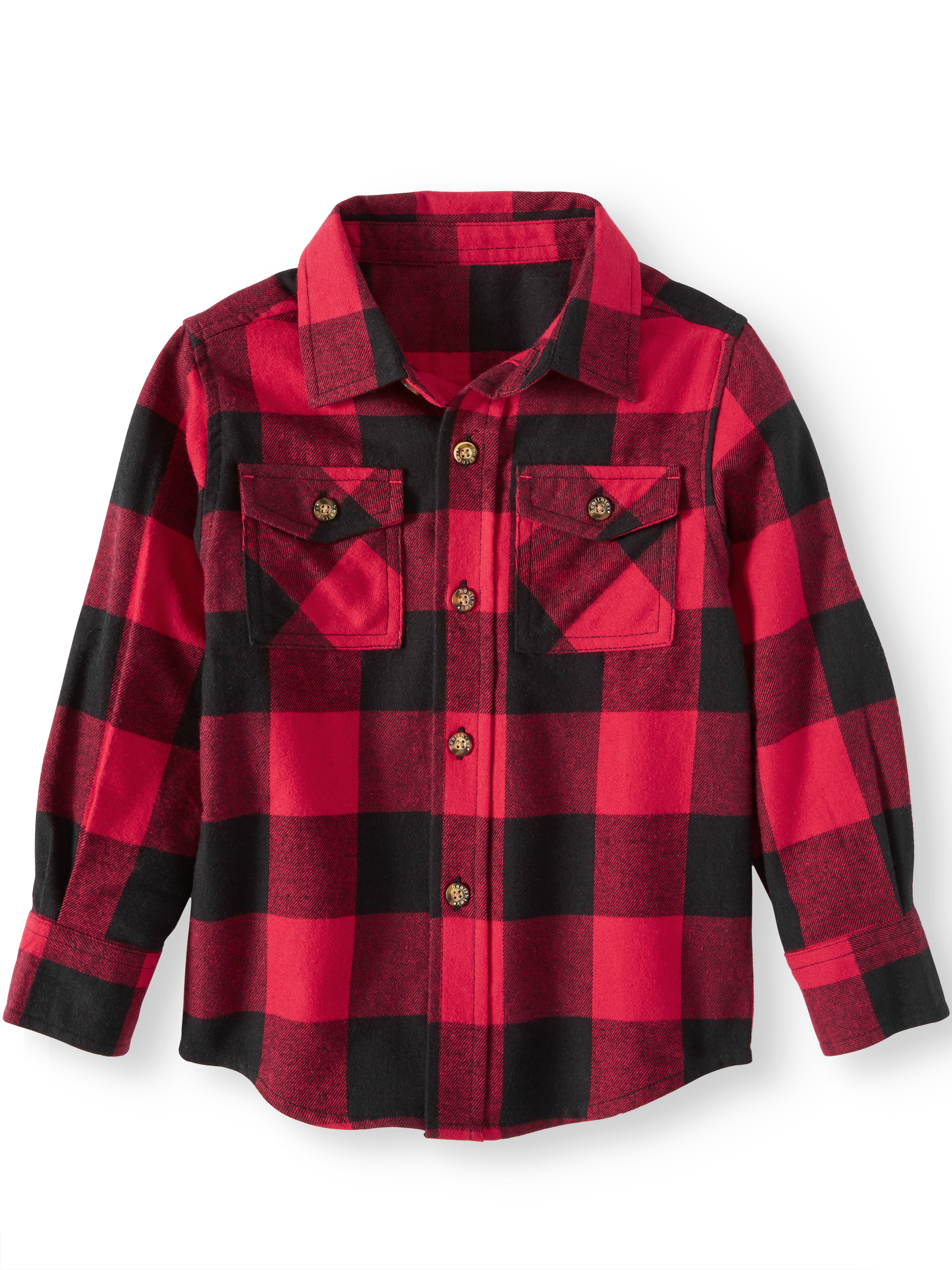 Long Sleeve Flannel Button Up Shirt (Toddler Boys)