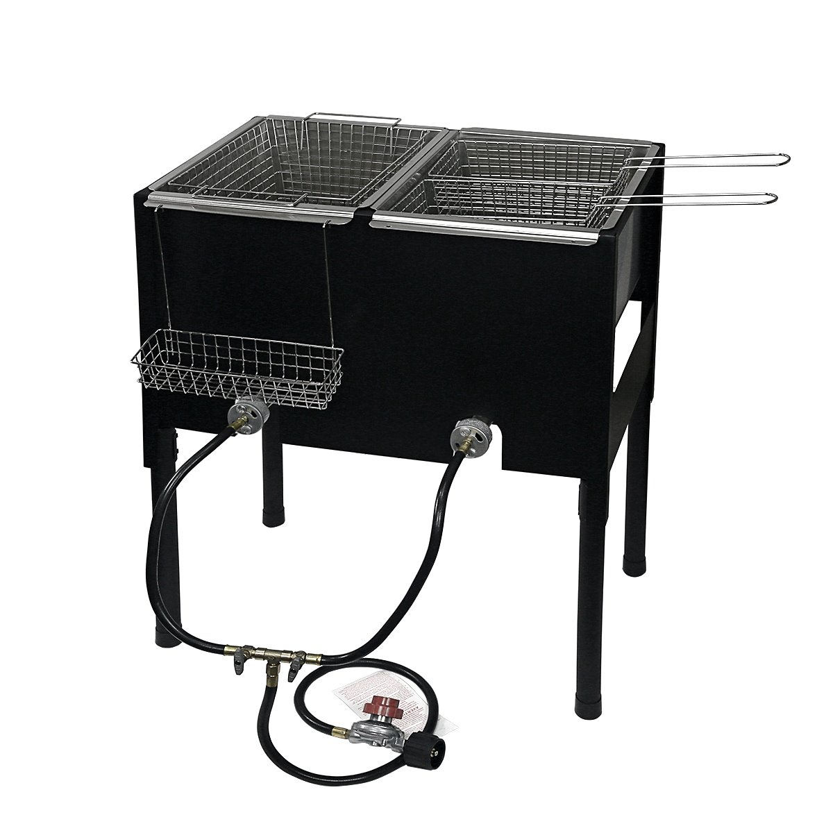 """XtremepowerUS 35"""" 2 Burners Camping High-Pressure Gas Dee..."""