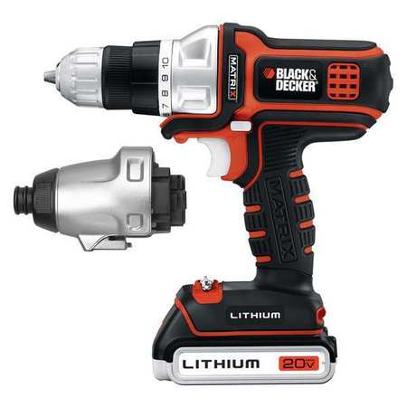 Black & Decker BDCDMT120IA 20V MAX Cordless Lithium-Ion Matrix Drill   Impact Combo Driver by Generic