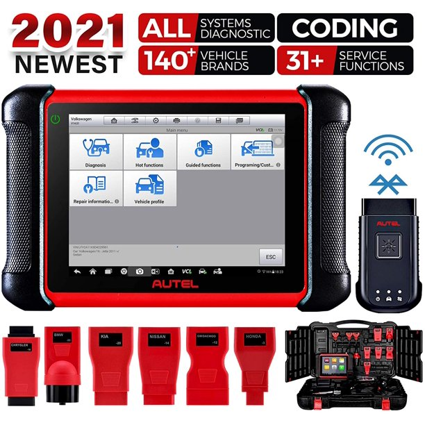 Autel MaxiCOM MK906BT Car Diagnostic Scan Tool Bi-Directional Control with  ECU Coding - Walmart.com - Walmart.com