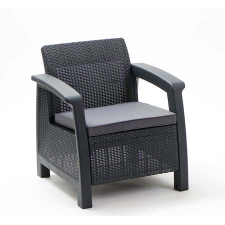 Fantastic Keter Bahamas Armchair Resin Outdoor Patio Furniture Grey Home Interior And Landscaping Ferensignezvosmurscom