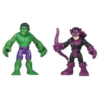 Heroes Marvel Super Hero Adventures Hulk and Marvel's Hawkeye, 2-pack includes 2 Marvel figures By Playskool