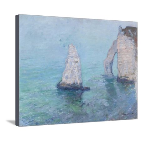 The Rock Needle and the Porte D'Aval, C.1885 Stretched Canvas Print Wall Art By Claude Monet](Porte Halloween)
