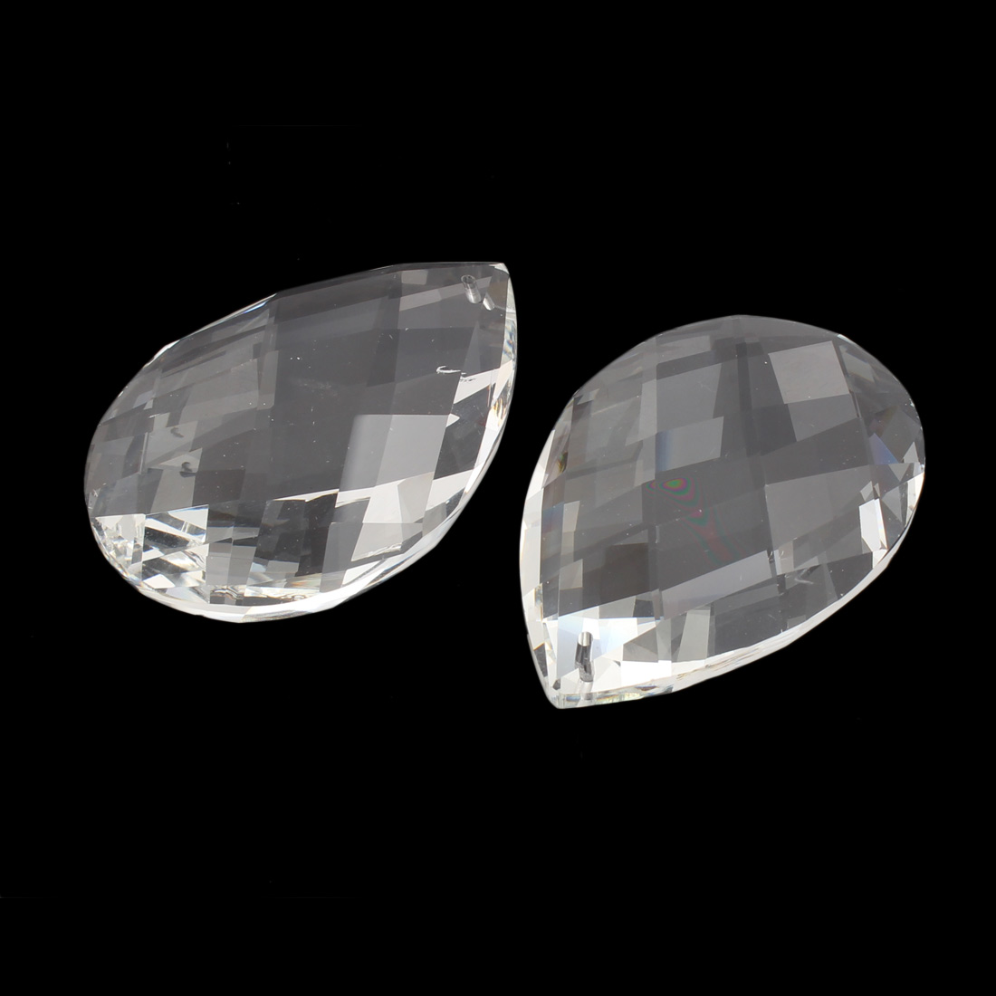 5pcs 76mm Long Faux Craystal Faceted Teardrop Shape Beads for DIY Light - image 1 of 2