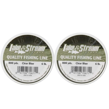 Lake & Stream Quality Fishing Line 6 LB Clear Blue 800 Yards 2 Pack 6 Lb Pick Head