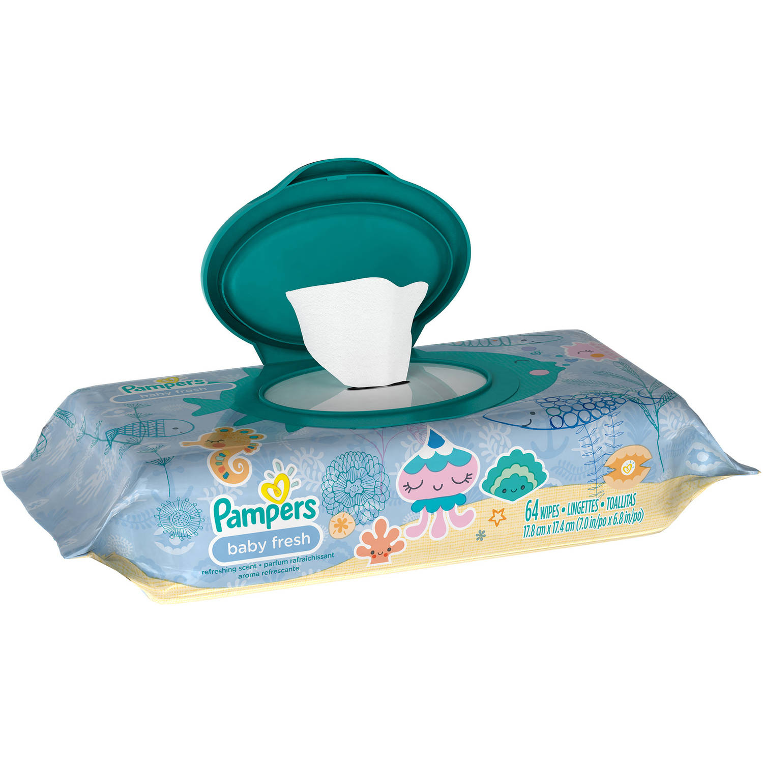 Pampers Baby Fresh Wipes, 64 Wipes
