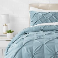 Beauty Threadz Pinch Pleat Comforter Set - Full/Queen, Spa Blue
