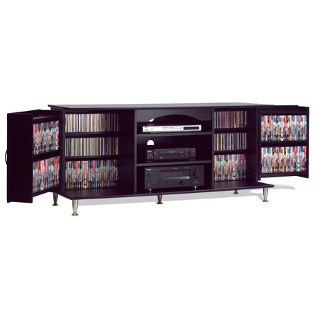 Premier Large Flat Panel TV Console with Media Storage