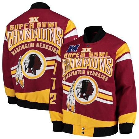 Nfl G-iii Suede (Washington Redskins G-III Extreme Gladiator Commemorative Cotton Twill Jacket - Burgundy )