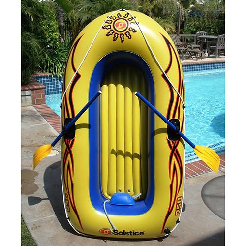 Solstice SunSkiff Two Person Inflatable Boat with Oars and Pump by