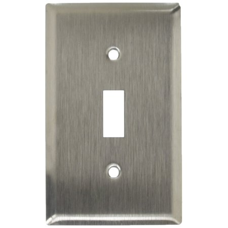Mulberry Stainless Steel 1-Gang Switch Cover Toggle Wallplate Switchplate