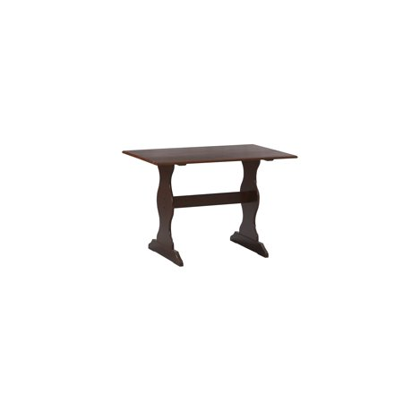 Linon Solid Pine Table in Walnut ()