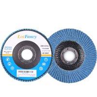 10PCS 120 Grit 4.5 Inch Zirconia Alumina Sanding Flap Discs