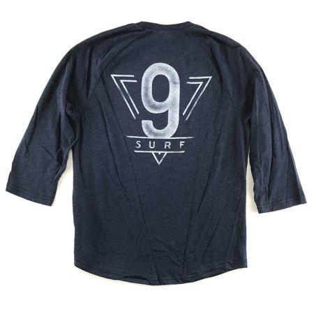 Hollister Mens 3 4 Sleeve Graphic T Shirt Medium Navy