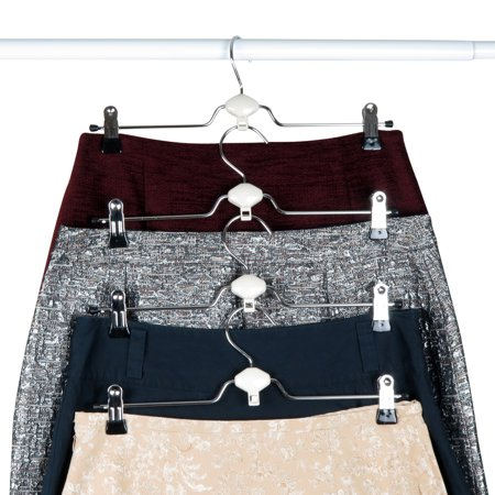 Evelots Metal Non Slip Rubber Coated Cascading Pant Skirt
