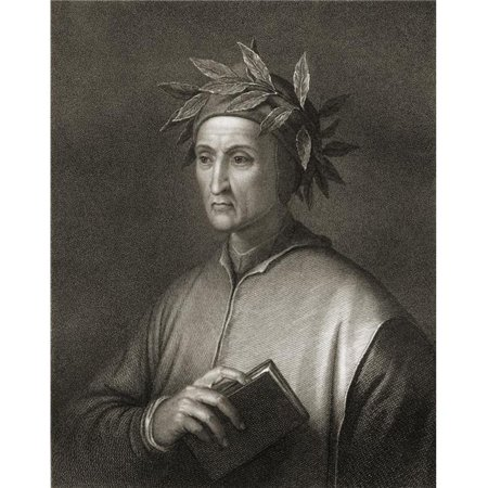 Posterazzi DPI1858526 Dante Alighieri 1265-1321 Italian Poet From The Book -Gallery of Portraits Published London 1833 Print, 13 x 17 - image 1 of 1