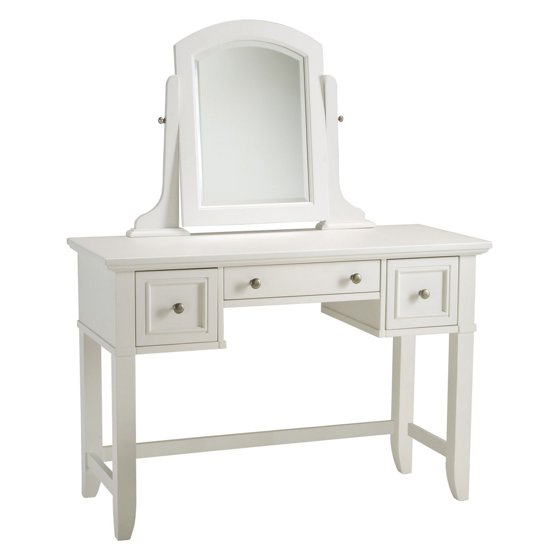 Home Styles Naples Vanity Table And Mirror White Walmart Com