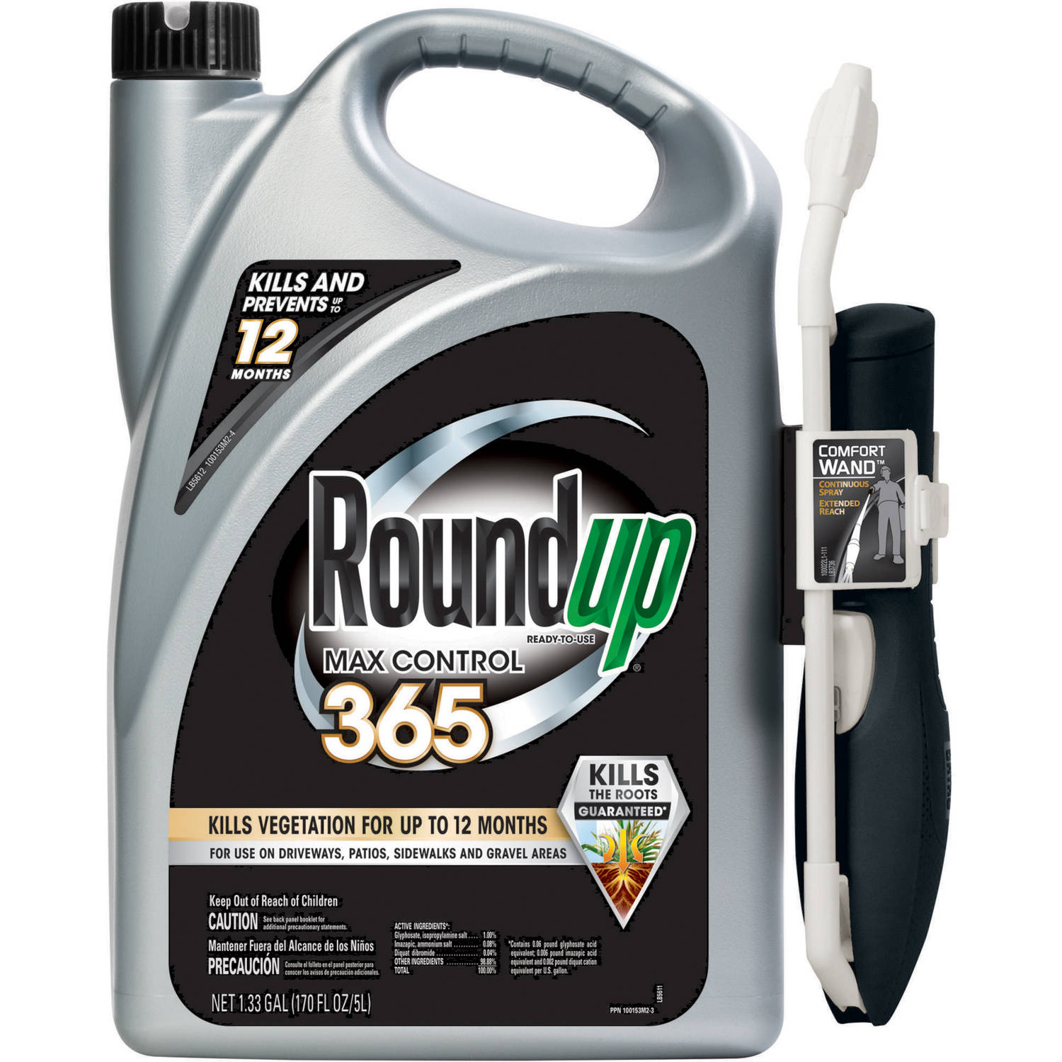 Roundup Ready-To-Use Max Control 365 with One-Touch Wand, 1.33 gal