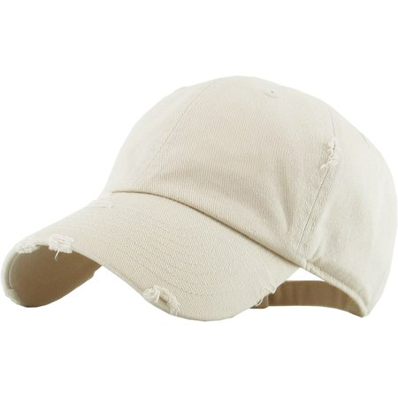 128b905e199 Washed Solid Vintage Distressed Cotton Dad Hat Adjustable Baseball Cap Polo  Style - Walmart.com