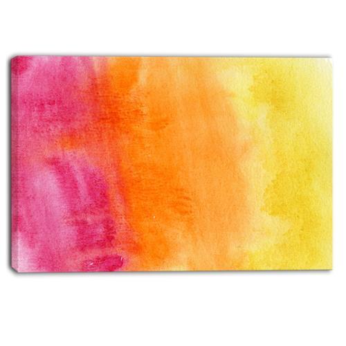 DESIGN ART Designart Yellow, Purple Meet Orange Abstract Canvas Art Print Small by Overstock