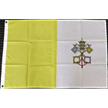 3x5 Vatican City Flag Holy See Papal State Pope Rome Italy Roman Catholic (Rome Italy Flag)
