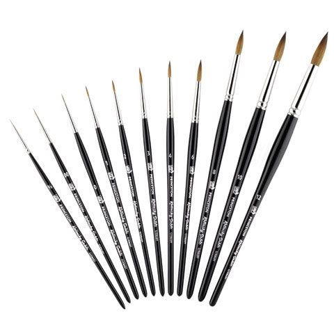 Princeton Art & Brush Co - Kolinsky Red Sable Short Handle Brush - Round - 3/0