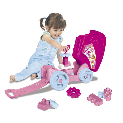 Mega Brands Mega Bloks Fill'n Dump Wagon in Pink