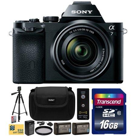 Sony a7K A7 Full-Frame DSLR 24.3 MP Interchangeable Digital Lens Camera FE 28-70mm f 3.5-5.6 OSS Lens with... by