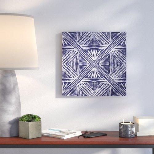 Ivy Bronx 'Inky Kaleidoscope III' Print on Canvas