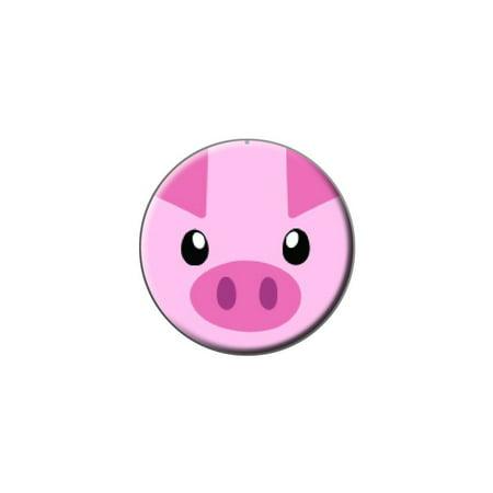 Pig Face - Close-up Farm Animal Lapel Hat Pin Tie Tack Small