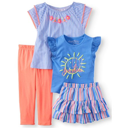 Hello Sunshine Mix and Match, 4-Piece Outfit Set (Little Girls & Big Girls) - Little Girls Clothing Store