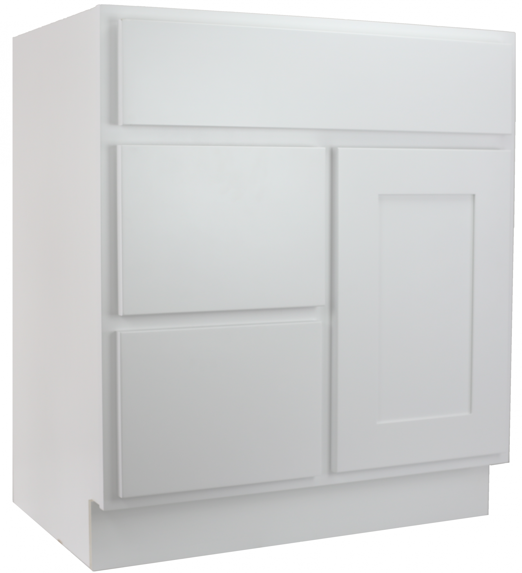 cabinet mania white shaker 30 inch bathroom vanity with left drawers sink rta cabinet