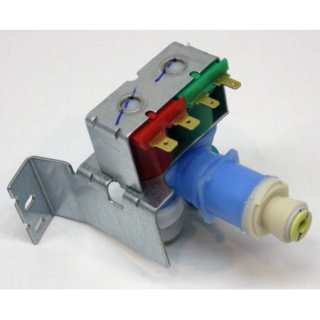 - 708 for W10408179 Whirlpool Kitchenaid Kenmore Refrigerator Water Valve, This Icemaker Water Fill Valve is a Double Coil Valve designed to replace