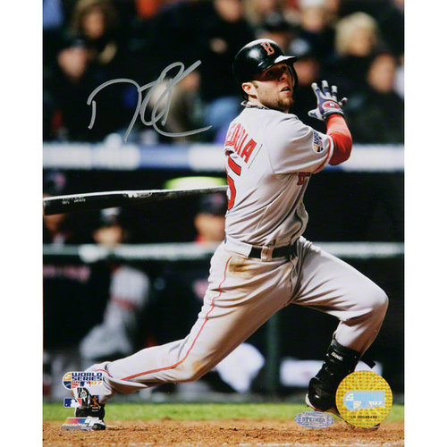 MLB - Dustin Pedroia Boston Red Sox - WS Game 3 Double - Autographed 8x10 Photograph