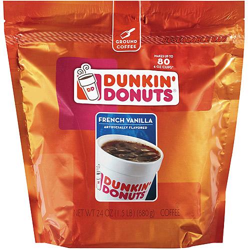 Dunkin' Donuts French Vanilla Coffee, 24 oz