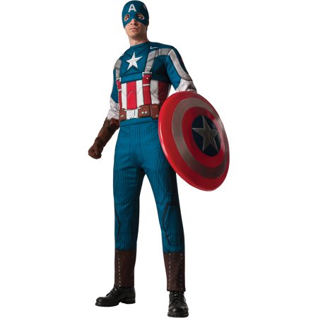 Captain America 2 Retro Muscle Chest Adult Halloween Costume - Captain America Costume Adult