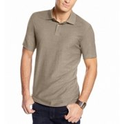 Tasso Elba NEW Mocha Beige Mens Size Large L Signature Polo Rugby Shirt $49