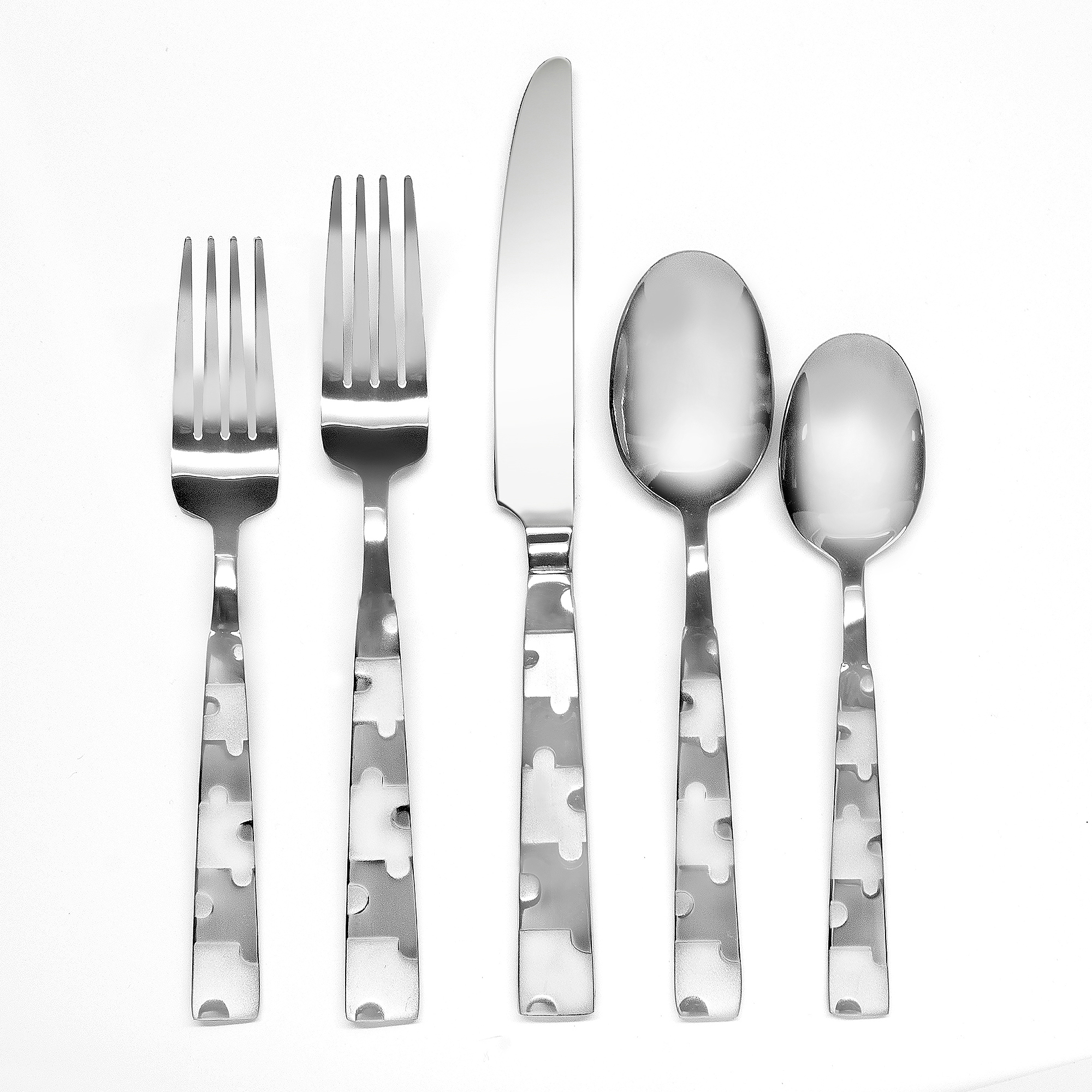 Hampton Forge Puzzle Frosted 20-Piece Flatware Set