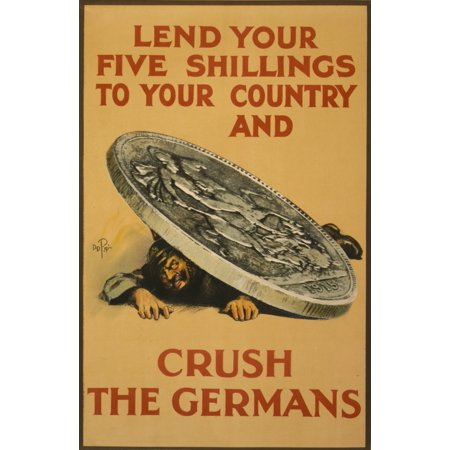 How England Raised an Army 1917 Lend you Five Shillings Canvas Art - Unknown (24 x 36)