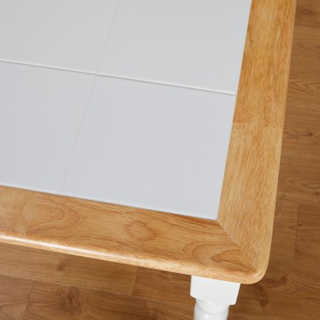 Tara Tile Top Table, White/Natural