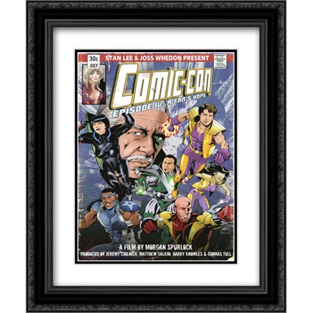 Comic Con Episode Four: A Fan's Hope 20x24 Double Matted Black Ornate Framed Movie Poster Art Print