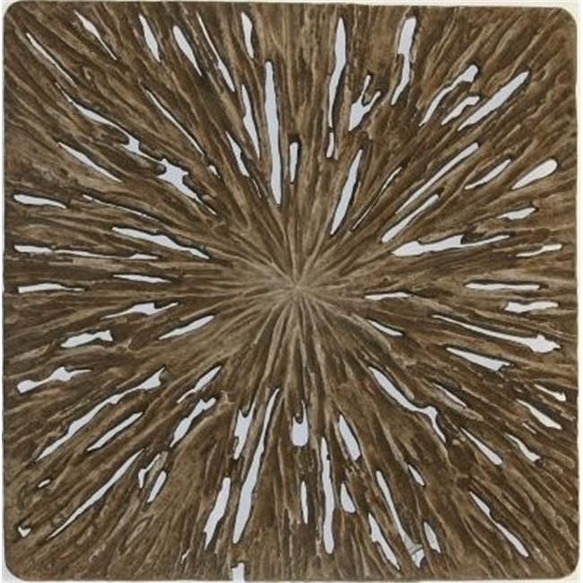Screen Gems SGS4134-92F Square Wall Decor  Rotten Wood Finish 19 inch x 19 inch x 2 inch -Pack of 2