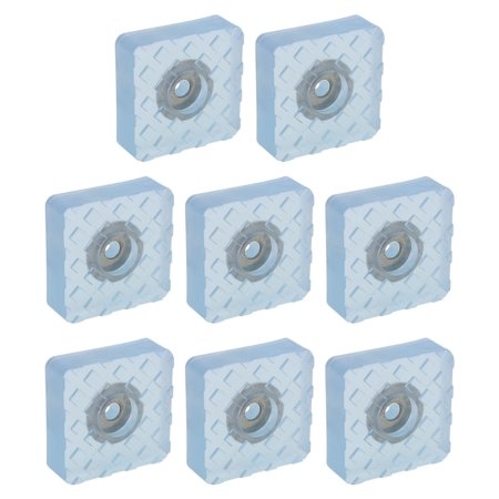 8pcs Square Rubber Feet Insert Metal Washer Leg Pads Floor Protector 30x30mm - image 7 de 7