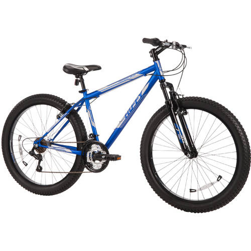 Huffy 26 Fortress Men S Mountain Bike With 3 0 Plus Tires Blue