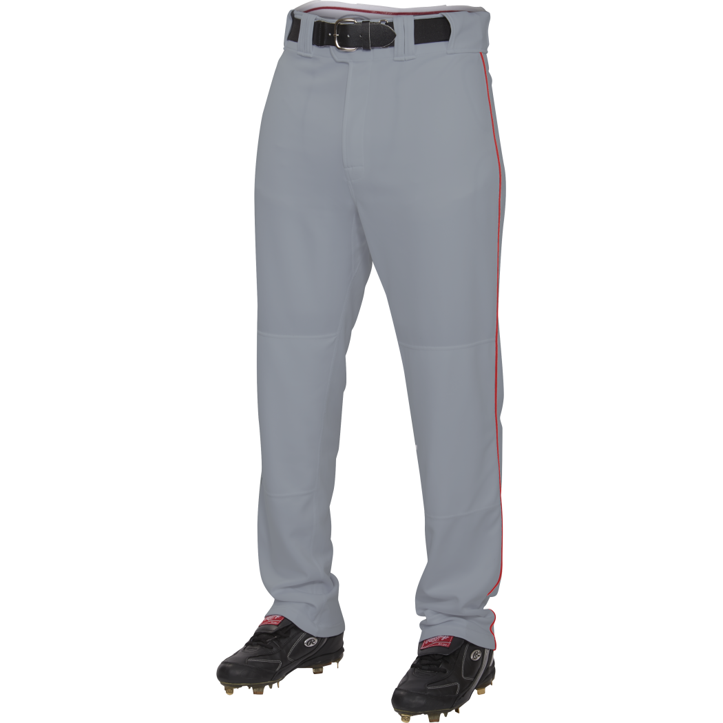 Rawlings Plated 1 8in Youth Piped Pant, Blue Grey Scarlet, Size YM by Rawlings