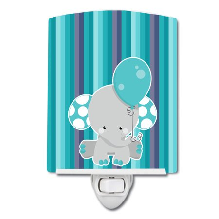 Grey Elephant with Balloon Ceramic Night Light