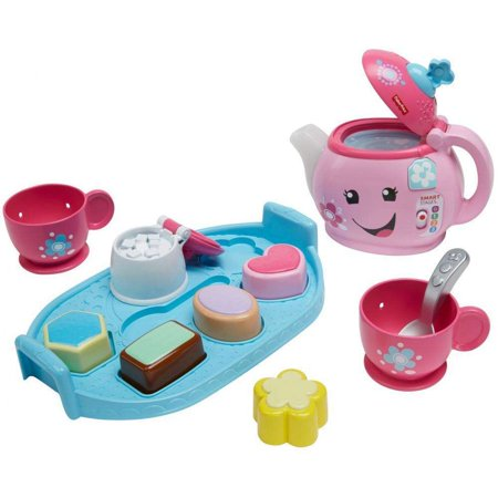 Fisher-Price Laugh & Learn Sweet Manners Tea Set with Lights & - 1 Year Old Learning Toys