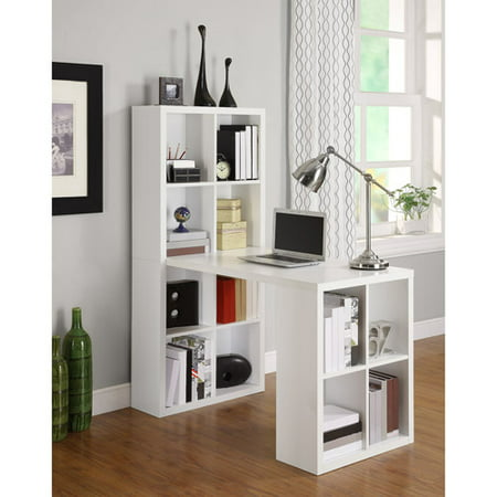 Mirror Cube Table - Ameriwood Home London Hobby Desk with Storage Cubes, Multiple colors