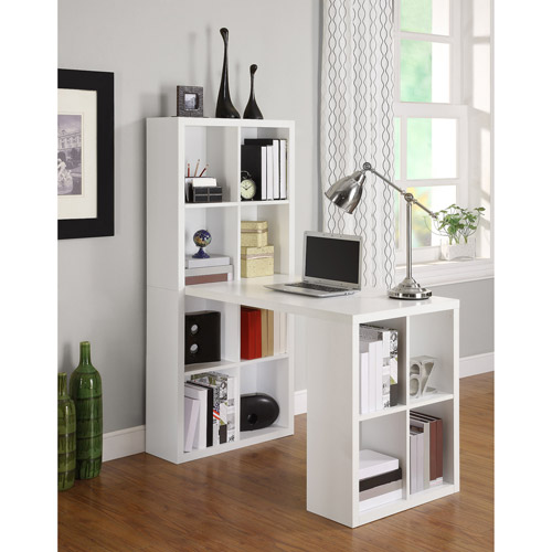 Ameriwood Home London Hobby Desk with Storage Cubes, Multiple colors